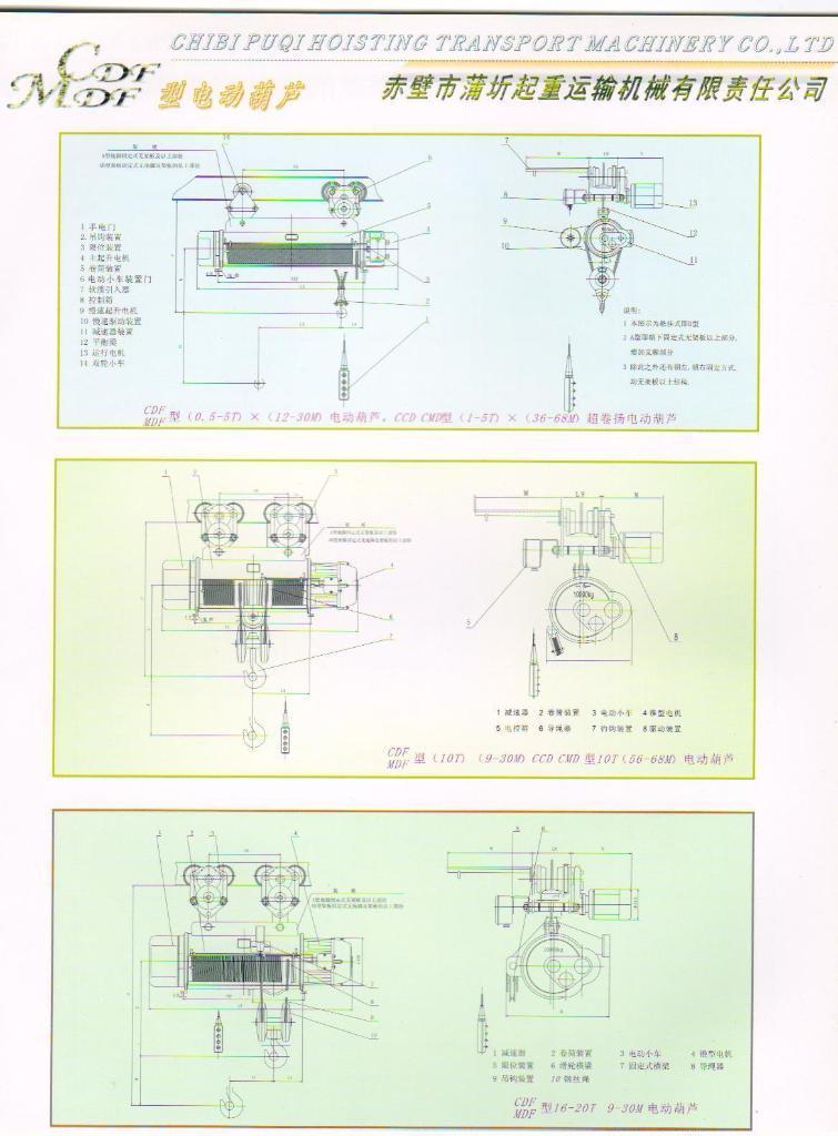 CD型0.5t-20t電動葫蘆 4