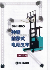SHINKO REACH FORKLIFT