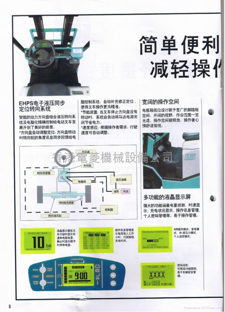 日本神钢电动坐式叉车 2