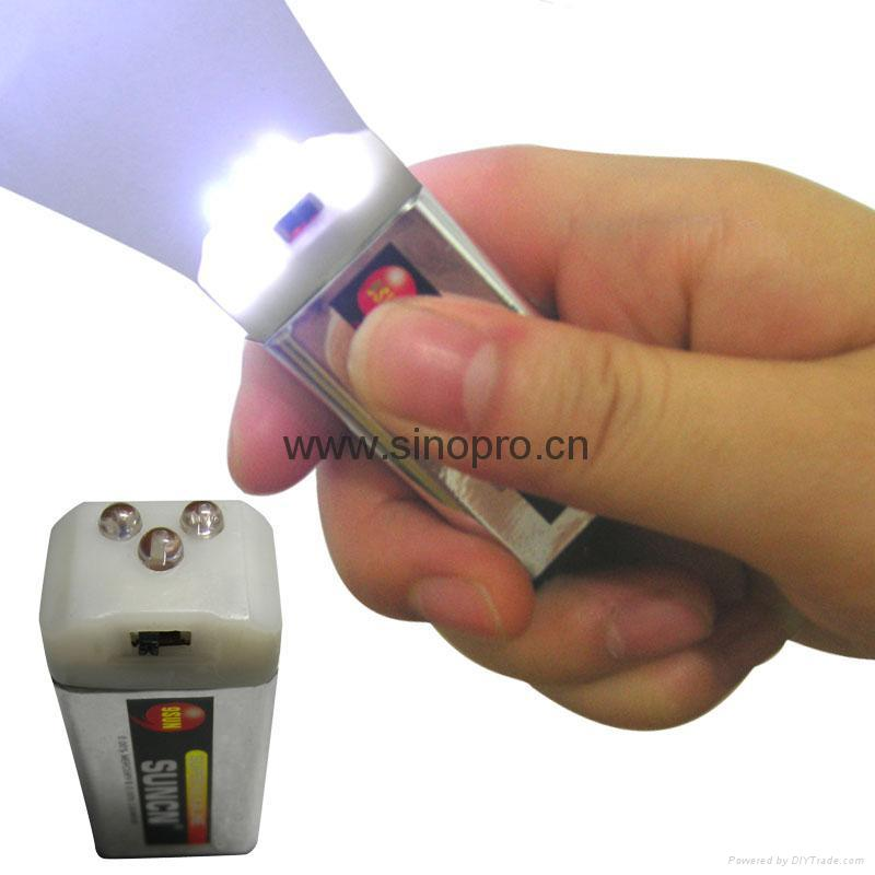 9 Volt Battery Led Flashlight 8819 Sinopro Hong Kong