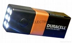 9 volt battery flashlight