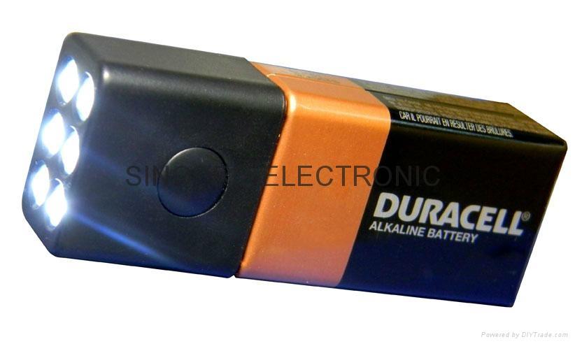 9 volt battery led flashlight sp8819 6 yours hong. Black Bedroom Furniture Sets. Home Design Ideas