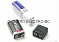 9 volt battery LED flashlight