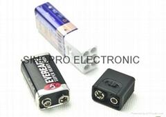 9 volt battery LED flash