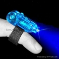 LED Finger light in red and blue blinking