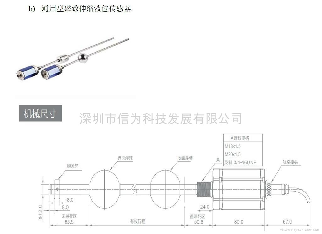 磁致伸縮液位傳感器 3