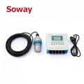 Liquid industry 12-24VDC ultrasonic level meters for fuel oil level measurement 2