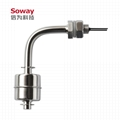 horizontal installed stainless steel magnetic float level switch 7