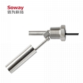 horizontal installed stainless steel magnetic float level switch 8