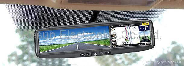 4.3 inch Rearview Mirror LCD Touch Screen built-in GPS + Bluetooth 1