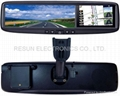 4.3 inch Rearview Mirror LCD Touch Screen built-in GPS + Bluetooth 3