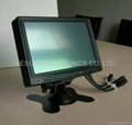 7 inch Desktop Headrest VGA A/V Touch Screen TFT LCD Monitor for PC