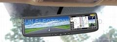 Rear-view Mirror LCD GPS