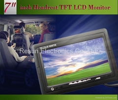 7 inch Headrest Car TFT LCD Monitor, pillow optional