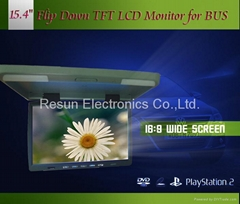 15.4 inch TFT LCD Flip Down Ceiling Monitor + IR Transmitter For DVD VCD PS2