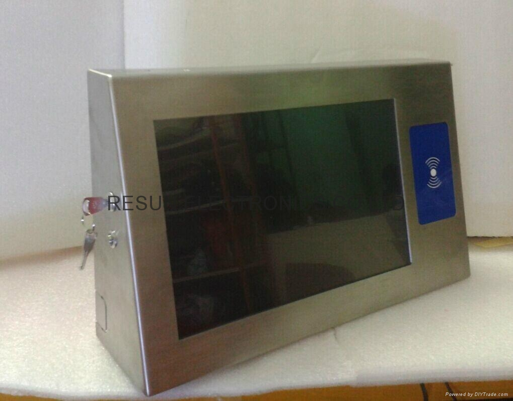 Stainless Steel Industrial Touch Screen Panel PC with RFID reader 4