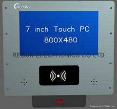 "7"" Touch Panel PC with integrated RFID-reader and Barcode scanner"