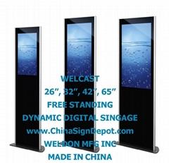 WELCAST Digital Signage, Free Standing