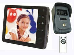 "7"" touch button color video doorphone with picture/video taking and recording"