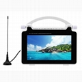 """7"""" Portable LCD TV with High Sensitivity FM,Multimedia Player and Built-in Batte"""