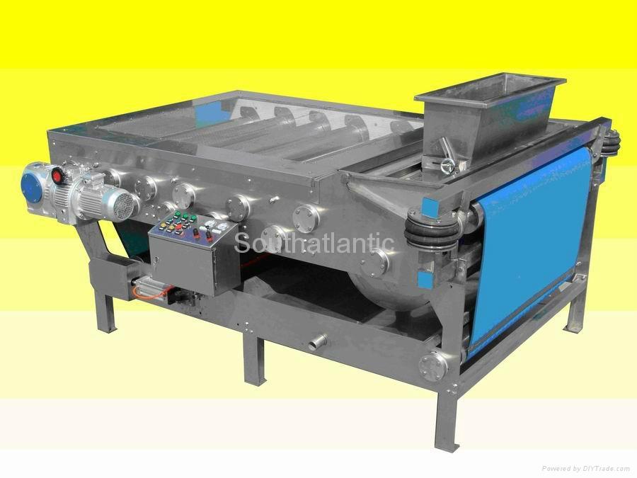 Belt transfering press machine yzj china manufacturer for Food bar press machine