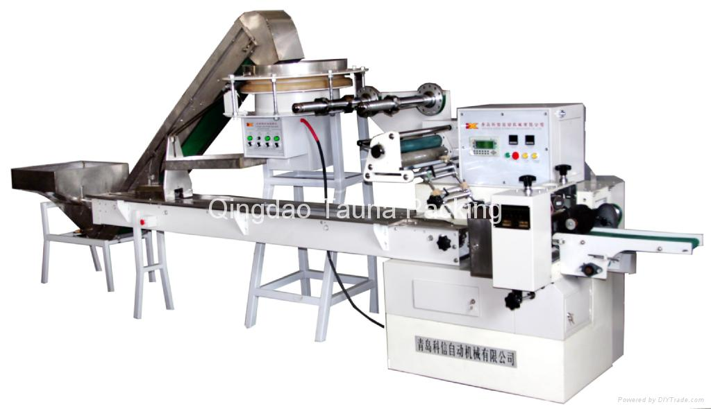 Syringe fully automatic pillow wrapping machine