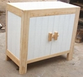 solid elm wood side board