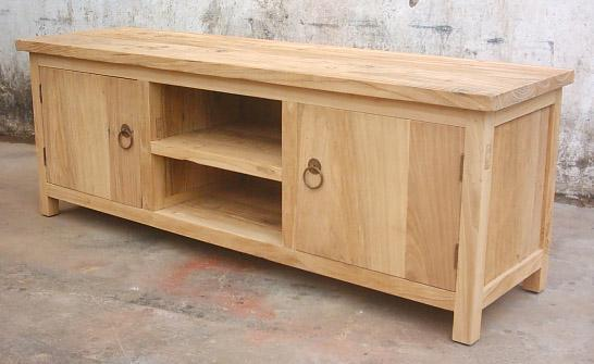 solid elm wood TV stand 1