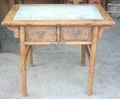 marble top wooden table