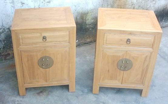 bedside cabinet,solid elm wood 1