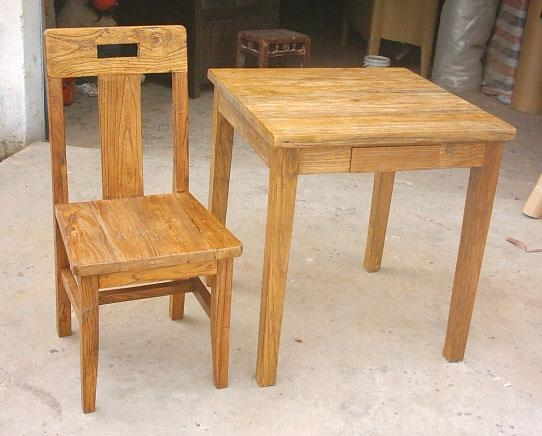 rustic looking recycled weathered old wood furniture