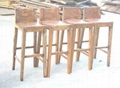 rustic looking wooden furniture, recycled old elm bar chair