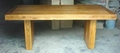 solid elm wood dining table