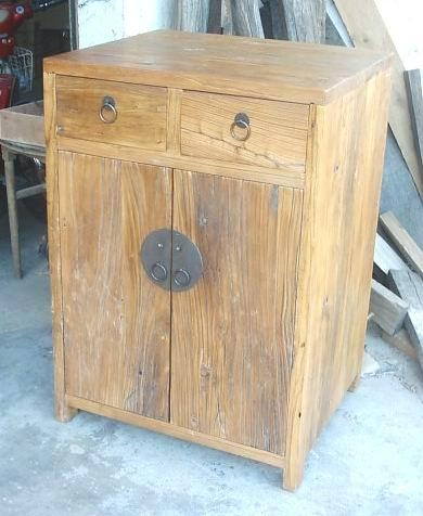 rustic looking weathered old wood furniture 1