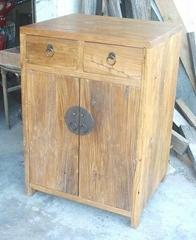 rustic looking weathered old wood furniture