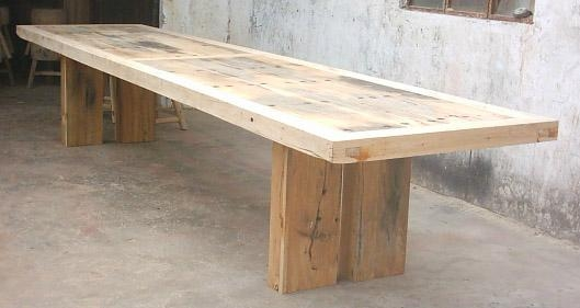rustic looking wooden furniture,recycled wood dining table 1