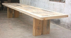 rustic looking wooden furniture,recycled wood dining table