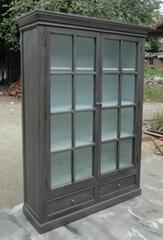 欧式玻璃门书柜