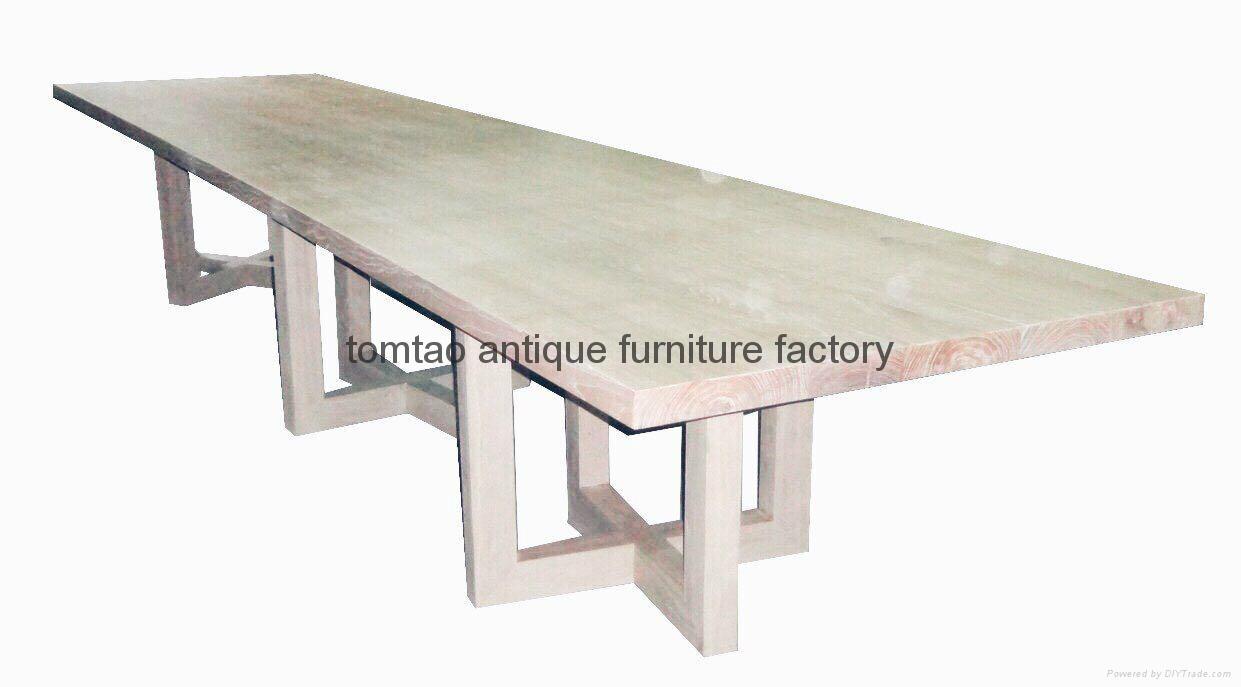4 Meter Wooden Table European Furniture #6399 1
