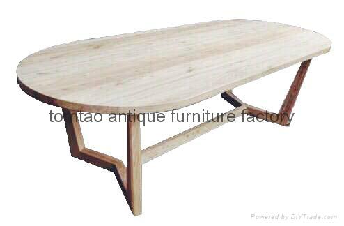 3 Meter Ellipse Wood Table Home Furniture #6377 1