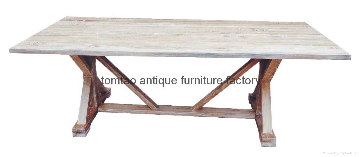 3 Meter Reclaimed Wood dining Table #6333 1