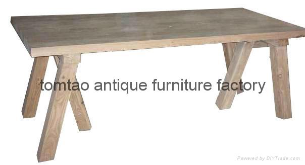 3 Meter Wooden Table Restaurant Furniture #6311