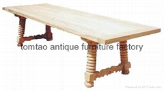 European Style Furniture Solid Wood Table #6277