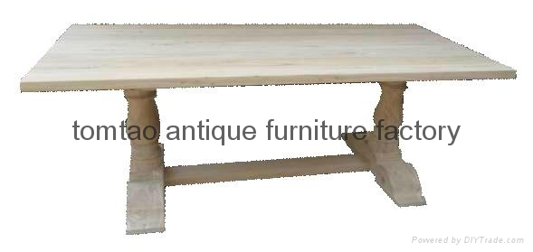 European Style Elm Wood Dining Table #6233 1