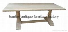 European Style Elm Wood Dining Table #6233
