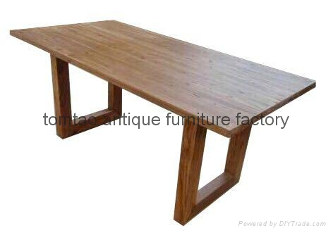 Hot Sale Old Elm Wood Dining Table #6222 1