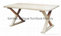 Elm Wood Dining Table Home Furniture