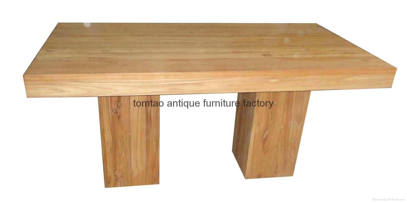 2 Meter Elm Wood Dining Table #6199 1