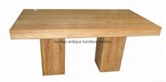 2 Meter Elm Wood Dining Table #6199