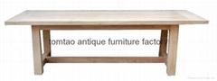 2 Meter Solid Elm Wood Dining Table #6166